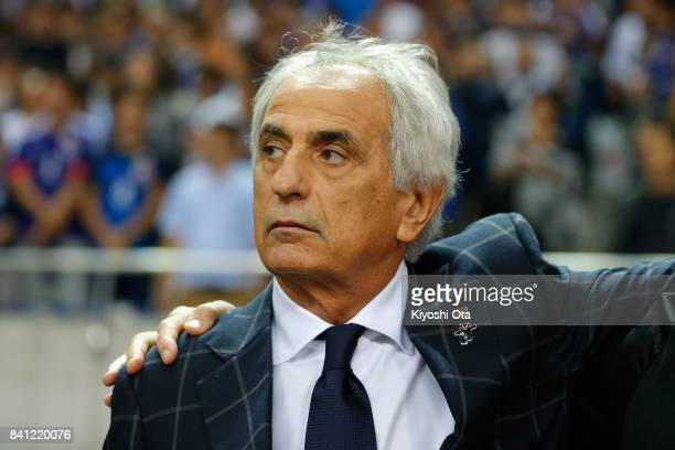 Head coach Vahid Halilhodzic of Japan looks on prior to the FIFA World Cup Qualifier match between Japan and Australia at Saitama Stadium on August...