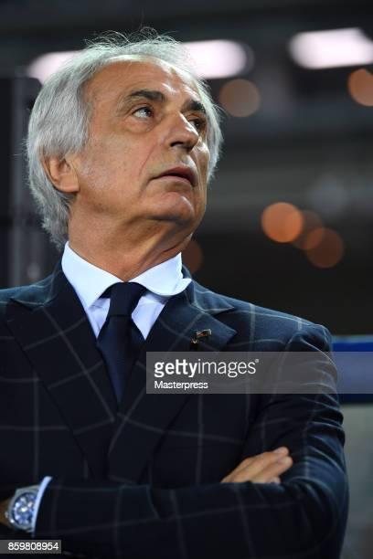 Head coach Vahid Halilhodzic of Japan looks on prior to the international friendly match between Japan and Haiti at Nissan Stadium on October 10 2017...