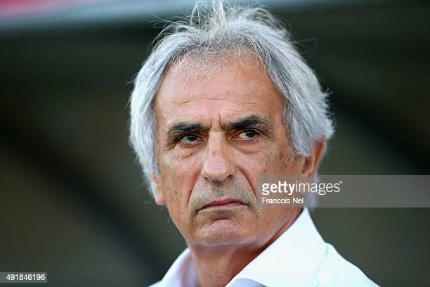 Head coach Vahid Halilhodzic of Japan looks on prior to the start of the 2018 FIFA World Cup Asian Group E qualifying match between Syria and Japan...