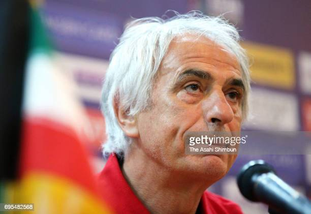 Head coach Vahid Halilhodzic of Japan speaks during a press conference ahead of the FIFA World Cup Asian Final Qualifier Group B match against Iraq...