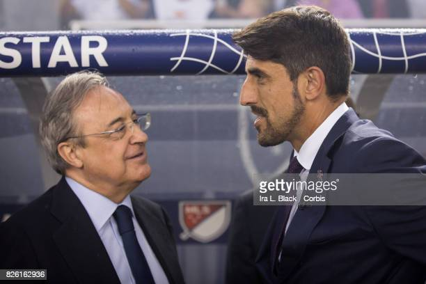 Head Coach Veljko Paunovic of the MLS AllStars team and Florentino Pérez president of Real Madrid during the MLS AllStar match between the MLS...