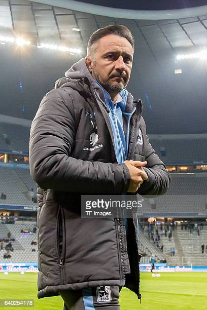 Head Coach Vitor Pereira of 1860 Muenchen looks on during the Second Bandesliga match between TSV 1860 Muenchen and SpVgg Greuther Fuerth at Allianz...