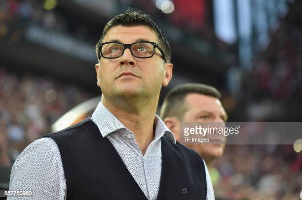 Head coach Vladan Milojevic of Belgrad looks on during the UEFA Europa League group H match between 1 FC Koeln and Crvena Zvezda at...