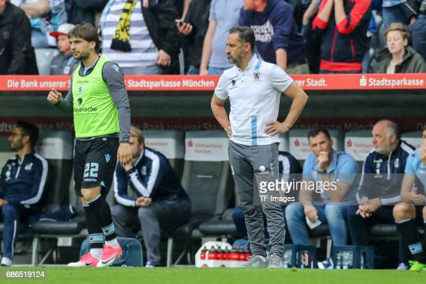 Head coach Vítor Pereira of 1860 Munich looks dejected during the Second Bundesliga match between TSV 1860 Muenchen and VfL Bochum at Allianz Arena...