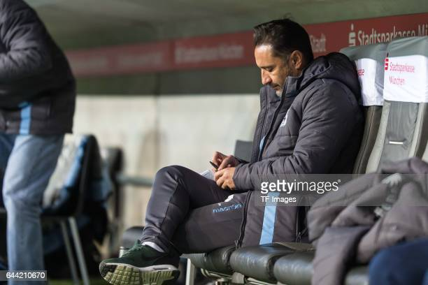 Head coach Vítor Pereira of TSV 1860 Muenchen gestures during the Second Bundesliga match between TSV 1860 Muenchen and 1 FC Nuernberg at Allianz...