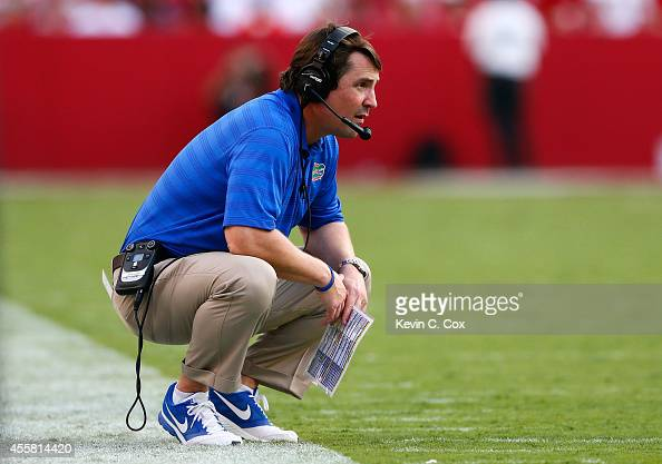 Head coach Will Muschamp of the Florida Gators looks on during the game against the Alabama Crimson Tide at BryantDenny Stadium on September 20 2014...