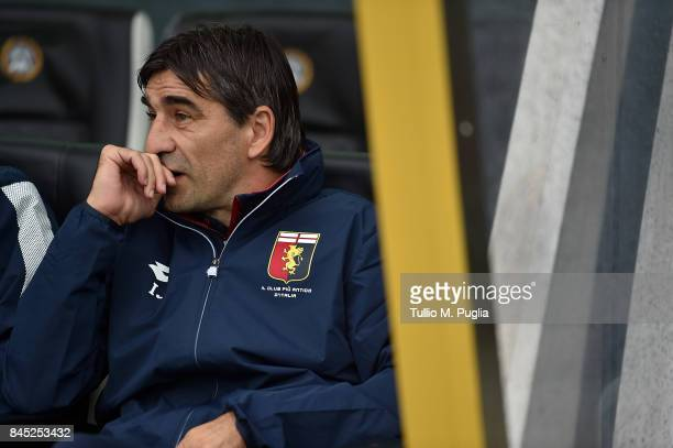 Head coch Ivan Juric of Genoa looks on during the Serie A match between Udinese Calcio and Genoa CFC at Stadio Friuli on September 10 2017 in Udine...