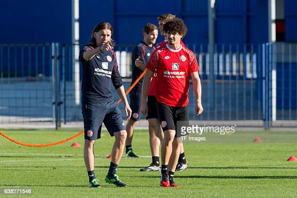 Head couch Martin Schmidt of Mainz and Andre Ramalho of Mainz during a Training Session at FSV Mainz 05 Training Camp on January 09 2017 in Marbella...
