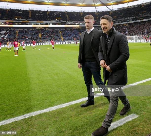 Head couch Niko Kovac of Frankfurt looks on during the Bundesliga match between Eintracht Frankfurt and SV Darmstadt 98 at CommerzbankArena on...