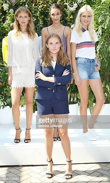 Head Designer for Gant Rugger Fifi Hallstensson poses with models at the Gant Rugger presentation during MercedesBenz Fashion Week Spring 2015 at...