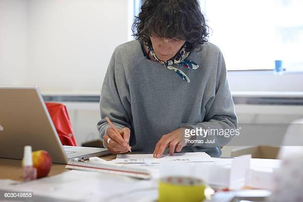 Head designer working at the studio