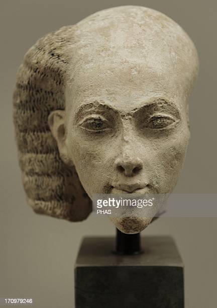 Head from a statuette of a princess Limestone Probably from elAmarna Egypt Amarna Period c 13651347 BC Ny Carlsberg Glyptotek Copenhagen Denmark