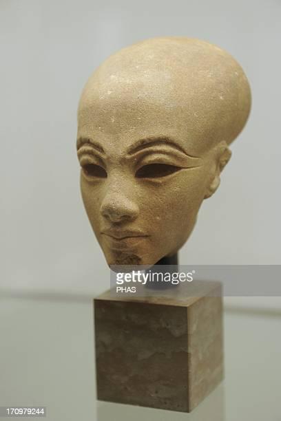 Head from a statuette of a princess Quartzite Probably from elAmarna Egypt Amarna Period c 13651347 BC Ny Carlsberg Glyptotek Copenhagen Denmark