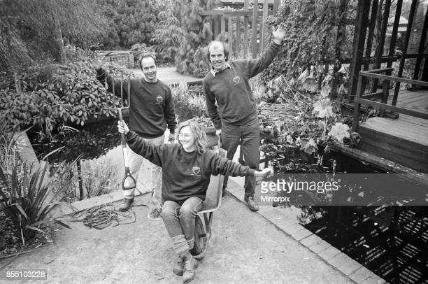 Head gardener Mr Brian Gilbride celebrates the success of Telford in the 1989 Britain in Bloom competition He is pictured in the town's Town Park...