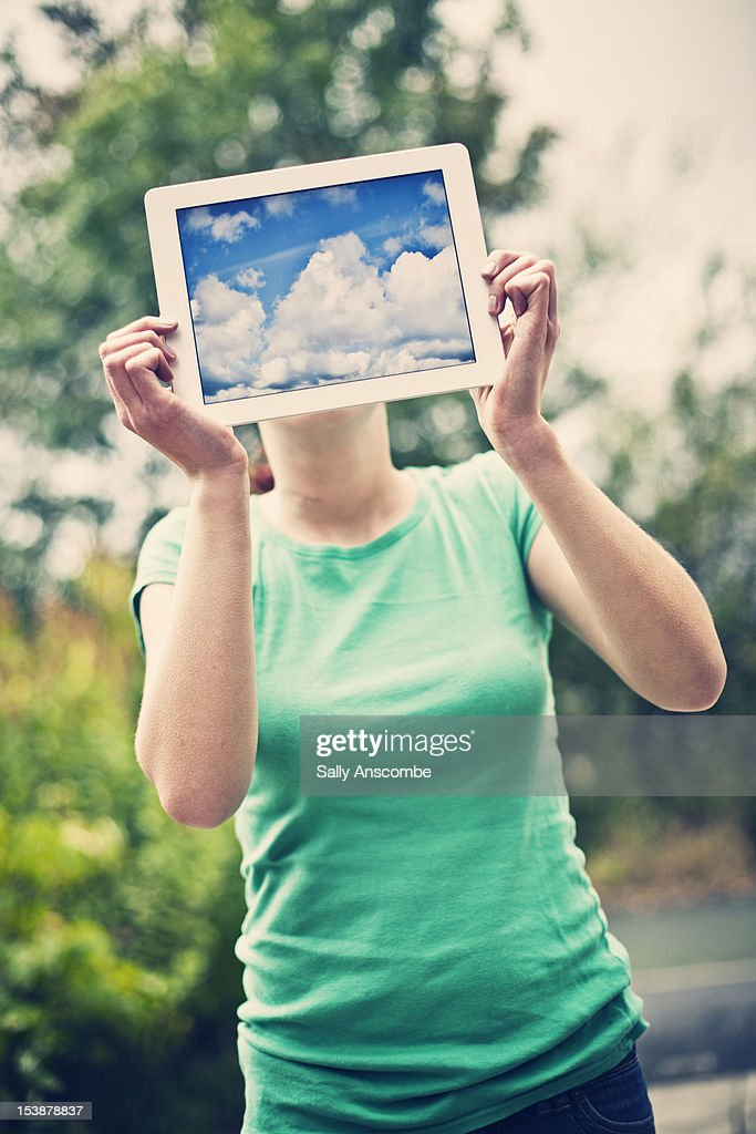 Head in the clouds : Stock Photo