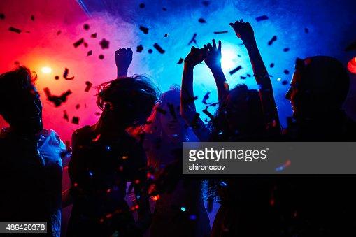 Head is swimming on dance floor : Stock Photo