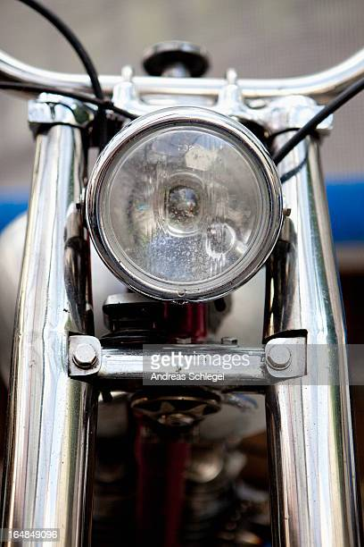 Head light on motorcycle