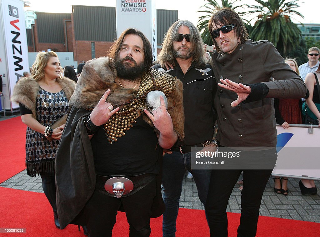 Head Like a Hole arrives for the 2012 Vodafone New Zealand Music Awards at Vector Arena on November 1, 2012 in Auckland, New Zealand.