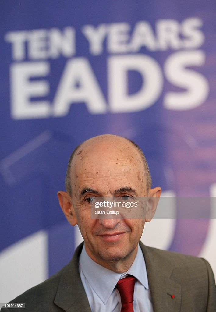 EADS head <a gi-track='captionPersonalityLinkClicked' href=/galleries/search?phrase=Louis+Gallois&family=editorial&specificpeople=752096 ng-click='$event.stopPropagation()'>Louis Gallois</a> speaks at a press conference at the ILA Berlin Air Show on June 9, 2010 in Berlin, Germany. Emirates airlines announced the day before that it will increase its order of EADS's Airbus A380 to a total of 90 aircraft.
