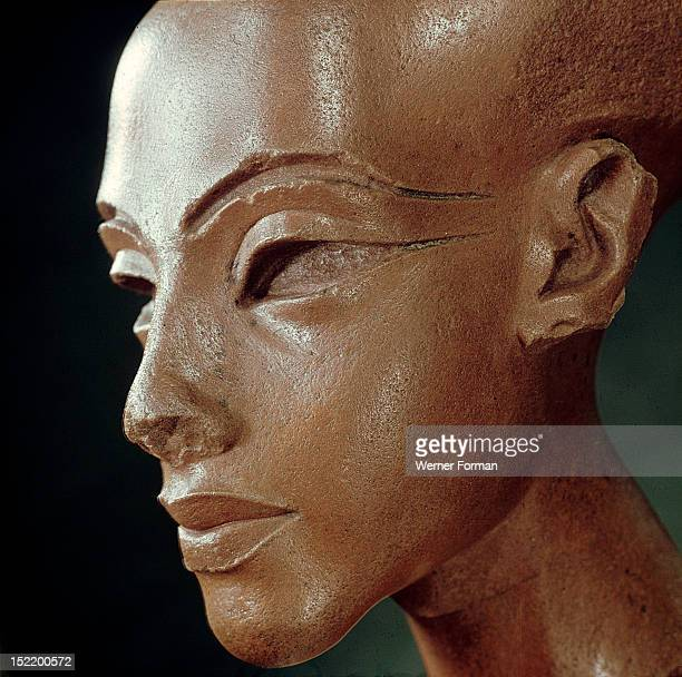 A head of a daughter of Akhenaton She is depicted with an unusually long back of skull which seems that it was a genuine family characteristic Egypt...