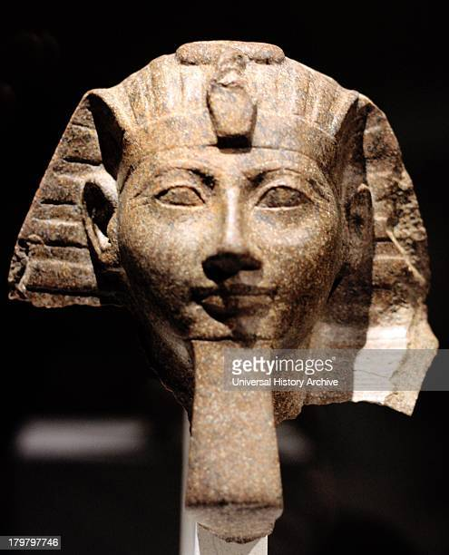 Head of a Statue of Queen Hatshepsut or of King Thutmose 111 18th Dynasty New museum Berlin