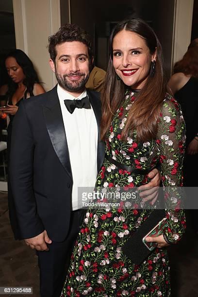 Head of Amazon Comedy Joe Lewis and actress Yara Martinez attend Amazon Studios Golden Globes Celebration at The Beverly Hilton Hotel on January 8...