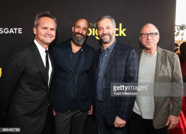Head of Amazon Studios Roy Price Amazon Studios' Worldwide Head of Motion Pictures Jason Ropell producer Judd Apatow and Amazon Studios' Head of...