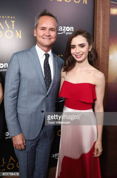 Head of Amazon Studios Roy Price and actor Lilly Collins at the Amazon Prime Video premiere of the original drama series 'The Last Tycoon' at Harmony...