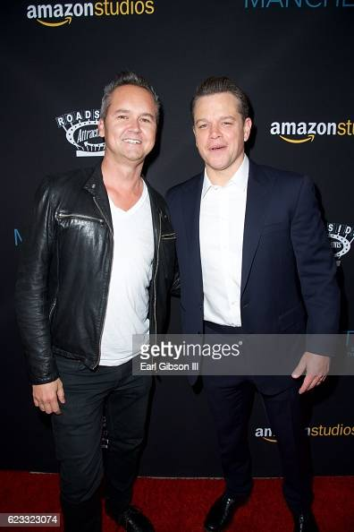Head Of Amazon Studios Roy Price and actor Matt Damon attend the Premiere Of Amazon Studios 'Manchester By The Sea' at Samuel Goldwyn Theater on...