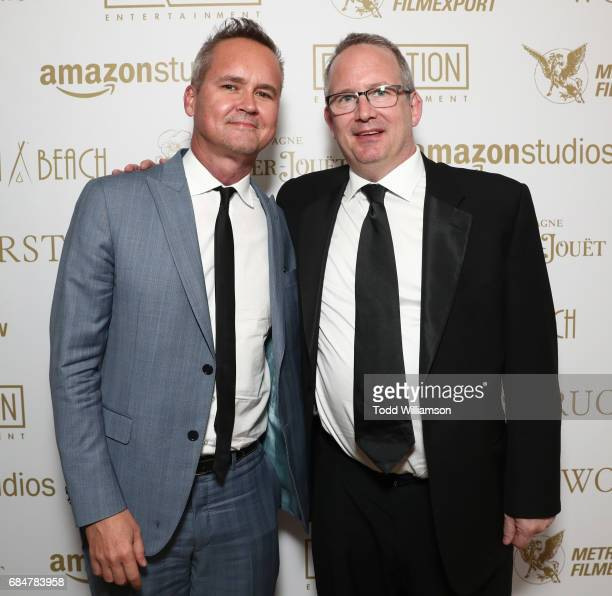 Head of Amazon Studios Roy Price and Amazon Head of Motion Picture Production Ted Hope attend the 'Wonderstruck' Cannes After Party on May 18 2017 in...