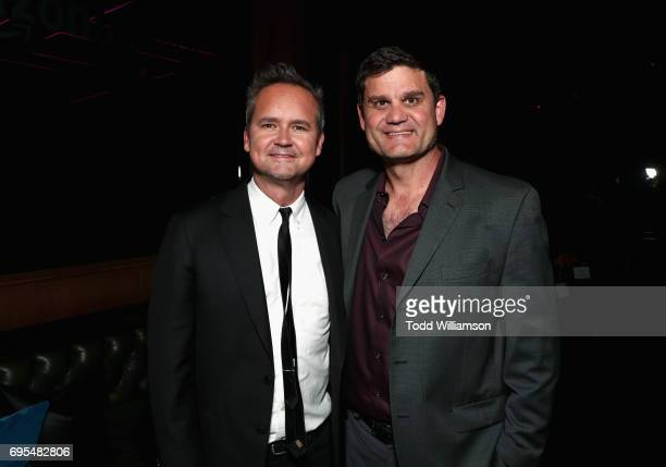Head of Amazon Studios Roy Price and President of Acquisitions and CoProductions of Lionsgate Motion Picture Group Jason Constantine attend Amazon...