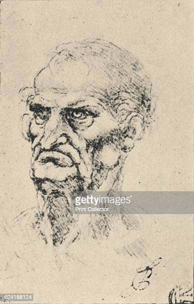 Head of an Old Man ThreeQuarters to the Left' c1480 From The Drawings of Leonardo da Vinci [Reynal Hitchcock New York 1945] Artist Leonardo da Vinci