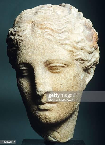Head of Atalanta by Skopas sculpture from the Athena Alea Temple in Tegea Temple Greek Civilization 4th Century BC Athens Ethnikó Arheologikó Moussío