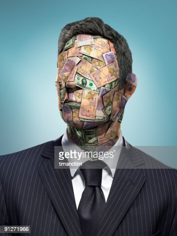 Head of Bank Notes : Stock Photo