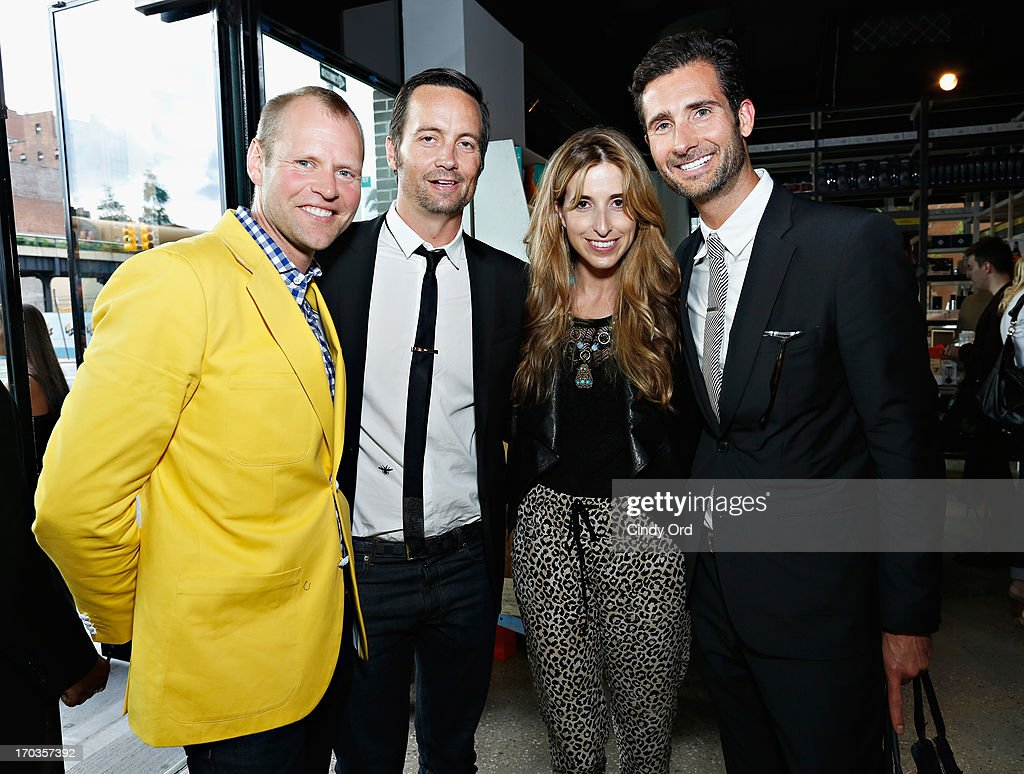 Head of Birchbox Man, Brad Lande and Co-Founder of Birchbox, Katia Beauchamp (2nd R) attend the Birchbox + Details Magazine 'His-Story' event at STORY on June 11, 2013 in New York City.