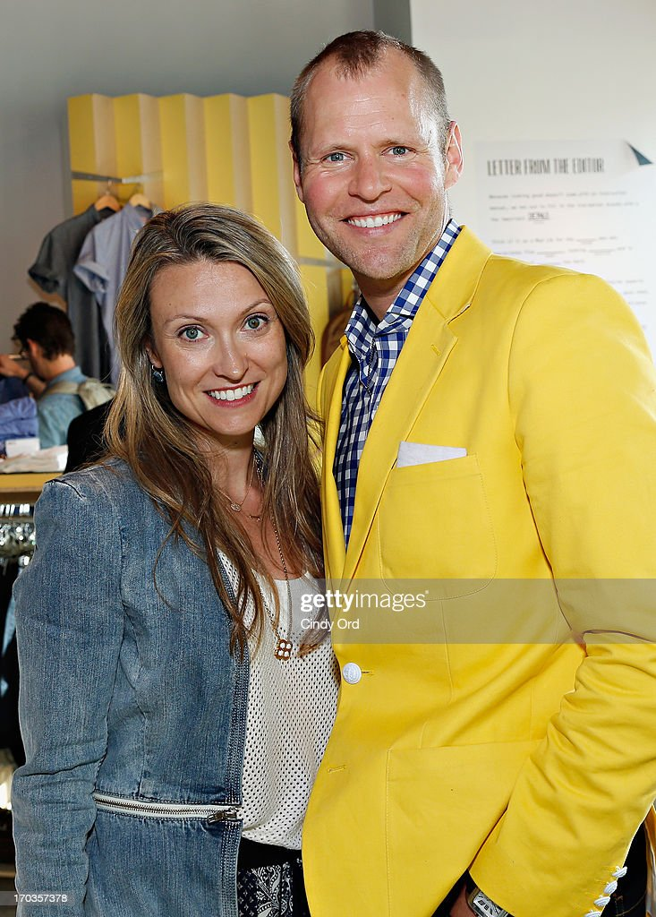 Head of Birchbox Man, Brad Lande (R) attends the Birchbox + Details Magazine 'His-Story' event at STORY on June 11, 2013 in New York City.