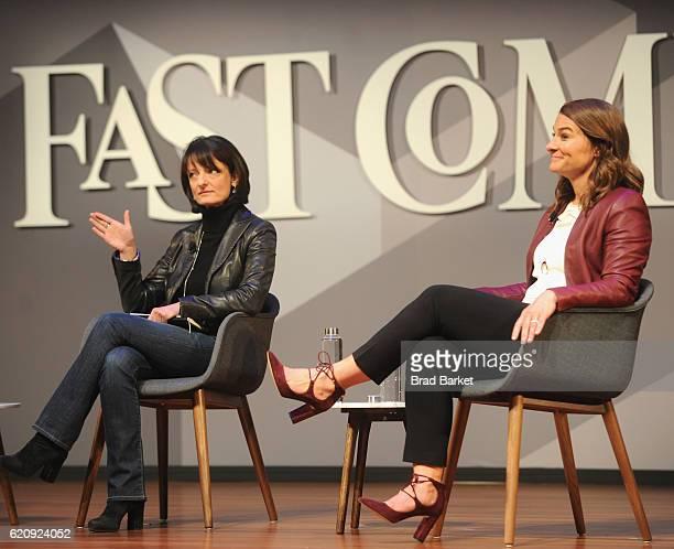 Head of Building 8 at Facebook Regina Dugan and Philanthropist Melinda Gates speak onstage during the Fast Company Innovation Festival 2016 Melinda...