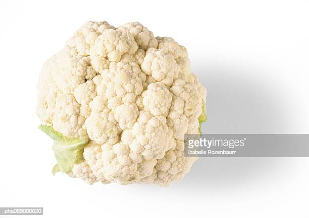 Head of cauliflower, top view, close-up