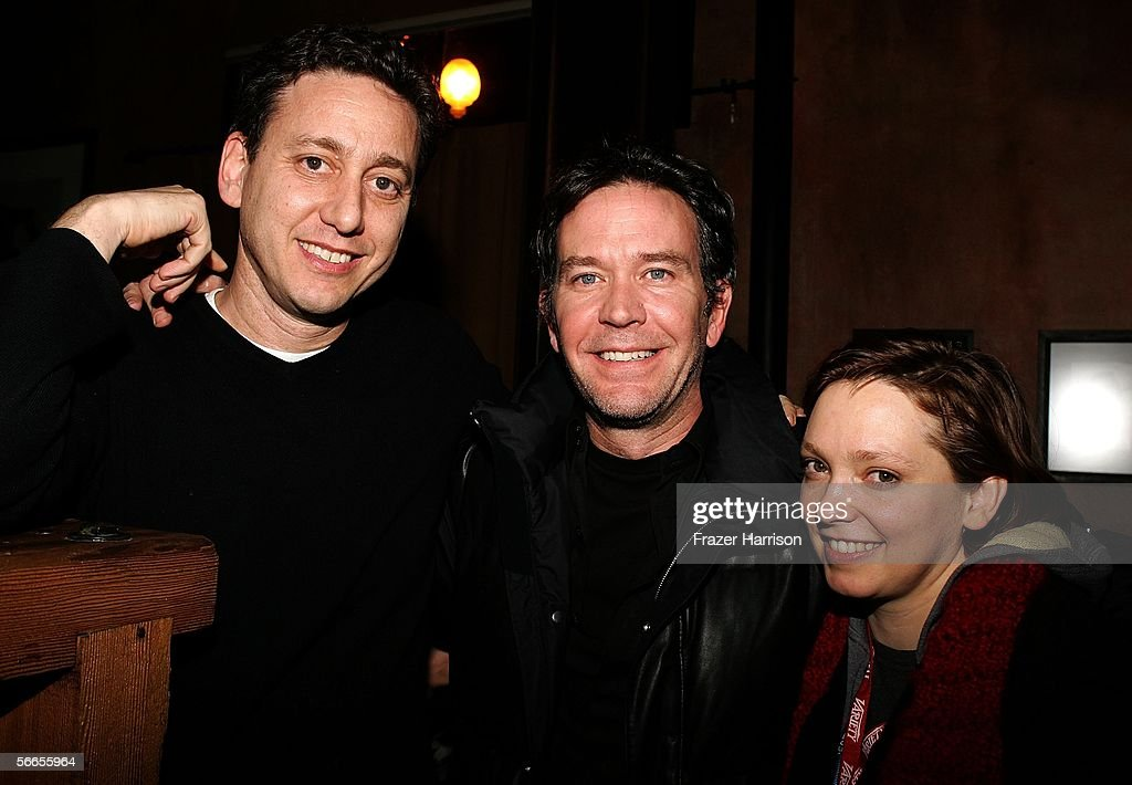 Head of Cinetic Media John Sloss, Actor Timothy Hutton, and Director Hilary Brougher arrive to the Cinetic Media Party at the Sundance Film Festival held at Zoom on January 23, 2006 in Park City, Utah.