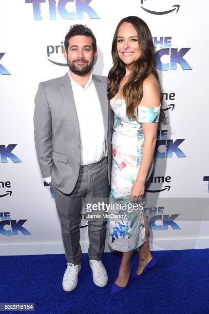 Head of comedy and Drama Amazon Studios Joe Lewis and Yara Martinez attend 'The Tick' Blue Carpet Premiere at Village East Cinema on August 16 2017...