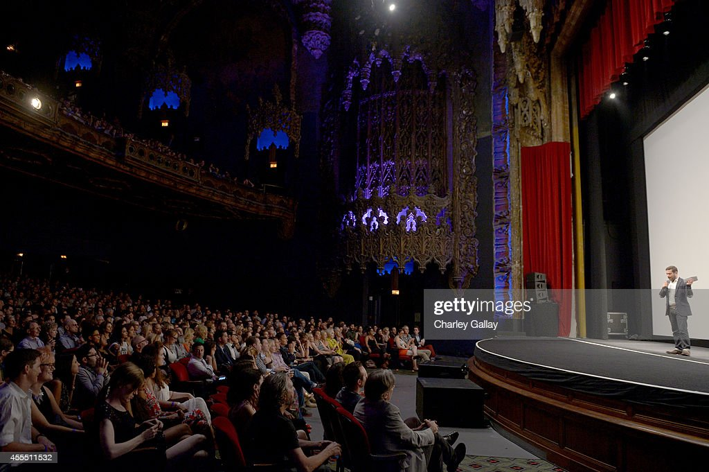 Head of Comedy Programming at Amazon Studios Joe Lewis speaks onstage at the Amazon red carpet premiere screening for brandnew dark comedy...