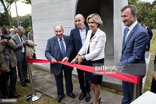 Head of Dassault Group Serge Dassault President of XtreeE Philippe Morel President of the Ile de France region Valerie Pecresse and Vice Chairman of...