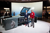 Head of Design at Rolls Royce Giles Taylor poses next to the Vision Next 100 concept Rolls Royce at the Roundhouse on June 16 2016 in London England...