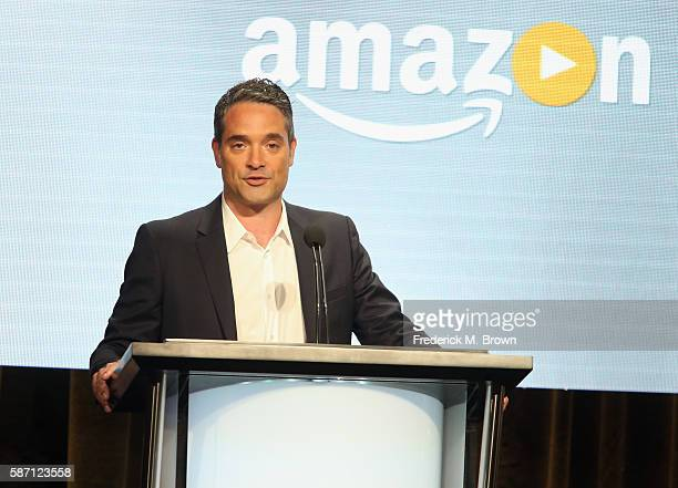 Head of Drama Development at Amazon Studios Morgan Wandell speaks onstage at 'Good Girls Revolt' panel discussion during the Amazon portion of the...