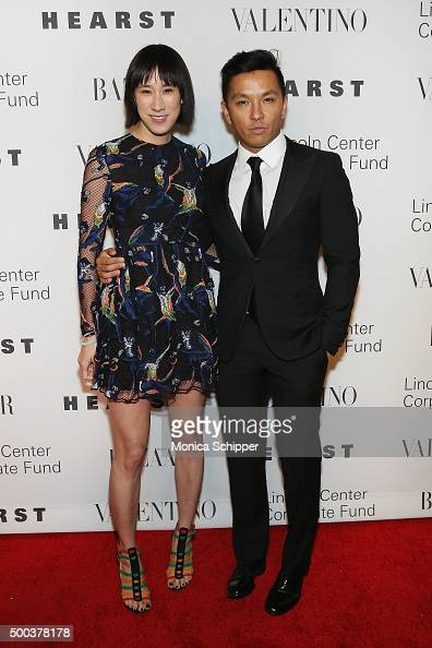 Head of Fashion Partnerships at Instagram Eva Chen and Fashion designer Prabal Gurung attend 'An Evening Honoring Valentino' Lincoln Center Corporate...