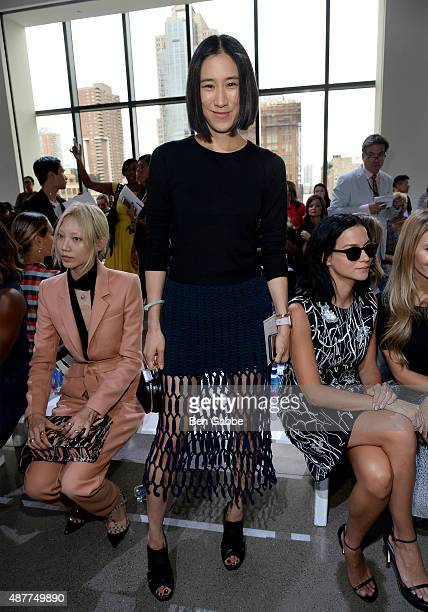 Head of Fashion Partnerships at Instagram Eva Chen attends the Jason Wu fashion show during Spring 2016 New York Fashion Week at Spring Studios on...