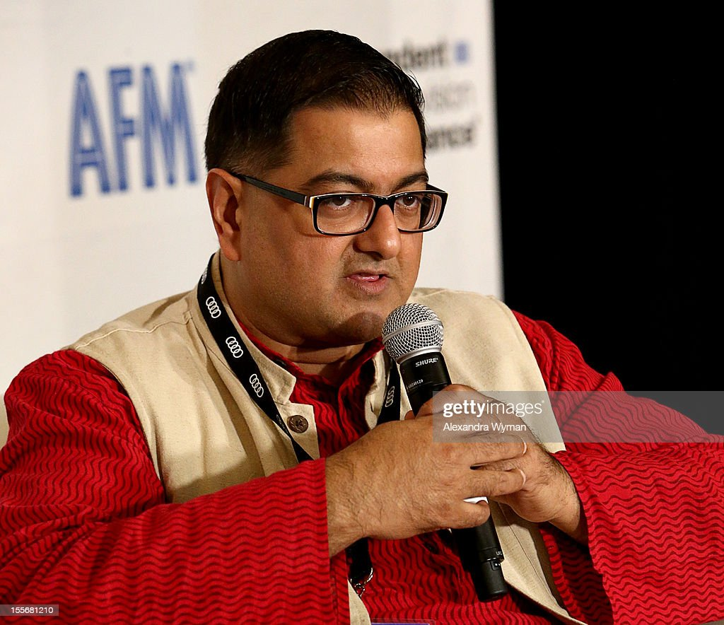 Head of film production and marketing National Film Development Corp., Vikramjit Roy speaks at International Production Incentives at the Loews Santa Monica Beach Hotel on November 6, 2012 in Santa Monica, California.