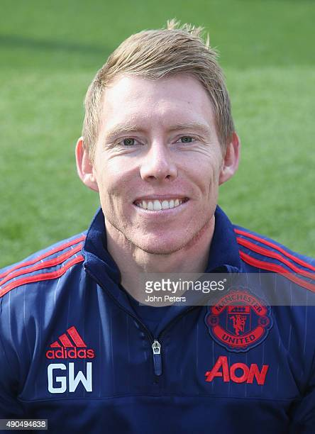 Head of Fitness Gary Walker of Manchester United poses during the club's annual photocall at Old Trafford on September 28 2015 in Manchester England