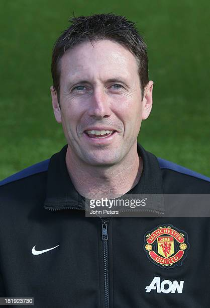 Head of Fitness Tony Strudwick of Manchester United poses at the annual club photocall at Old Trafford on September 26 2013 in Manchester England