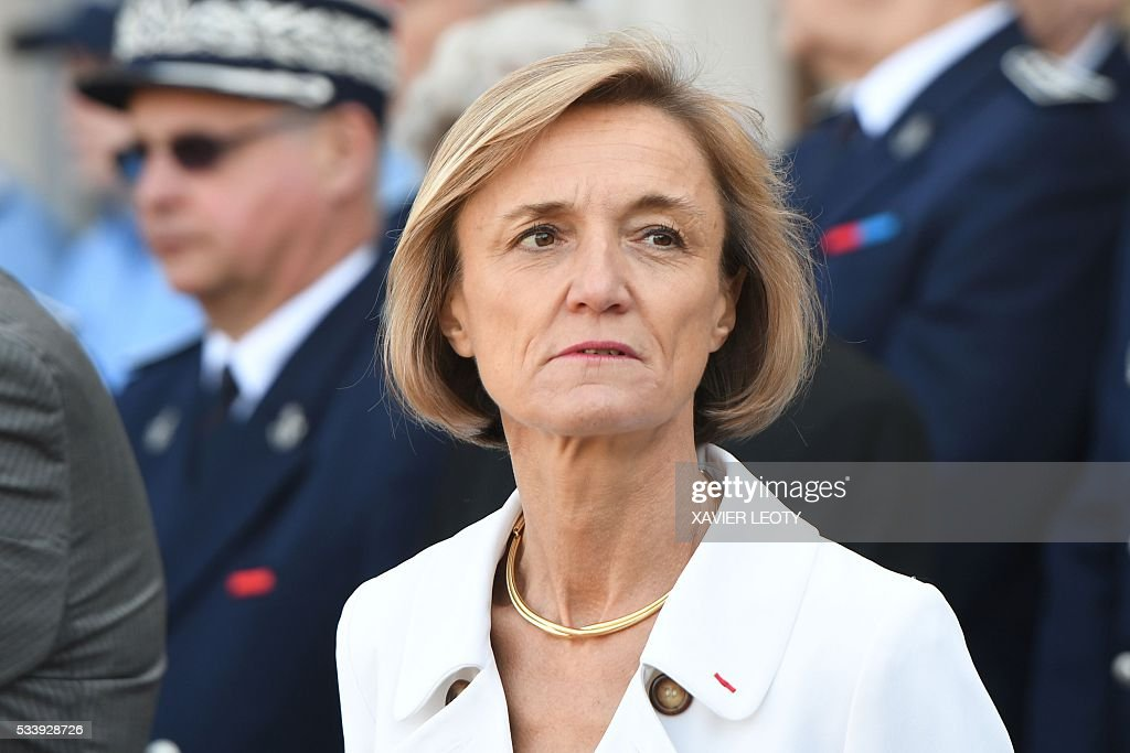 Head of French customs Helene Crocquevieille looks on during the closing ceremony for the graduated class of the National School of Customs in La Rochelle on May 24, 2016. French customs services received a new training to fight against terrorism, the first 'agents of observation' of customs recruited as part of the security agreement to reinforce the numbers of judiciary, penitentiary and customs police and gendarme members. As part of this security agreement and concerning only the customs service 1,000 new positions will be created between 2016 and 2017. / AFP / XAVIER